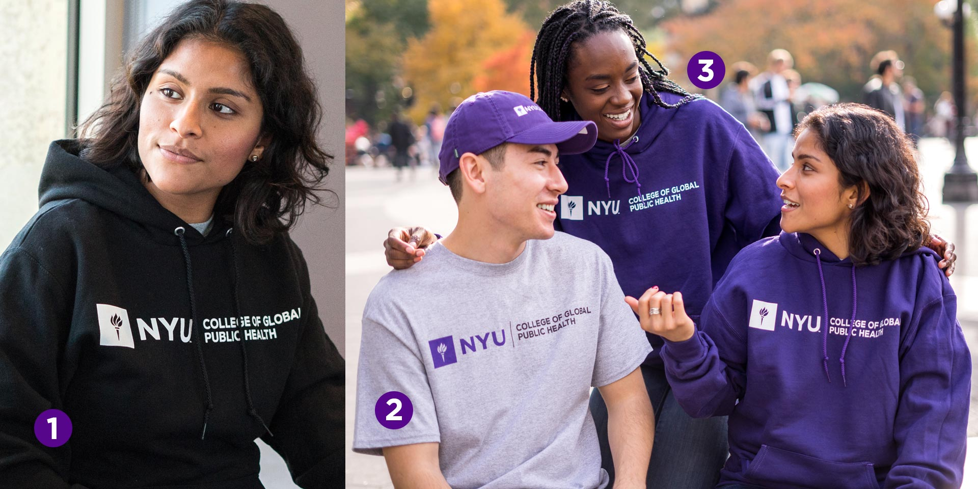 NYU GPH Branded Hoodie and T-shirt