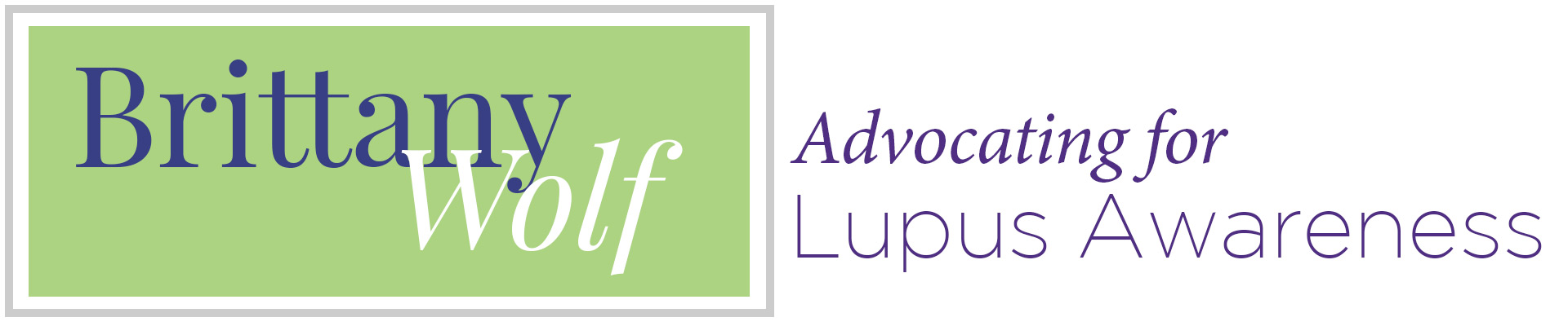 Brittany Wolf, Advocating for Lupus Awareness