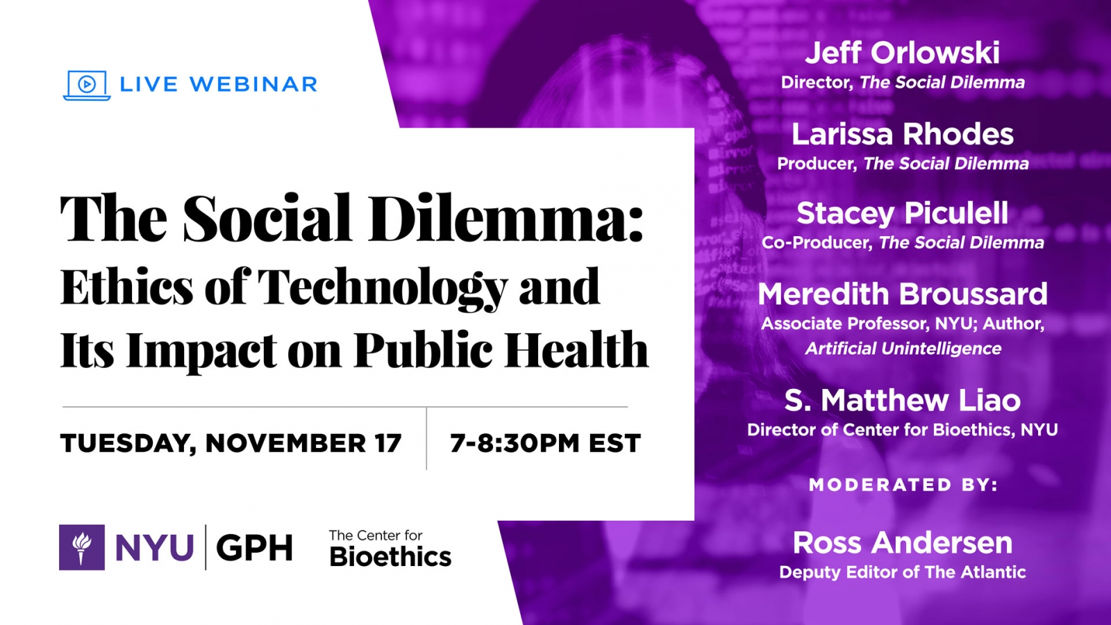 The Social Dilemma: Ethics of Technology and Its Impact on Public Health
