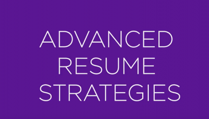 Advanced Resume Strategies