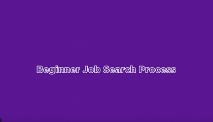 Beginner Job Search Process