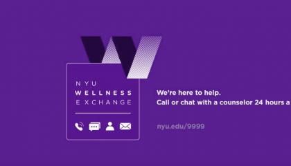 No problem is too big or too small for NYU Wellness Exchange