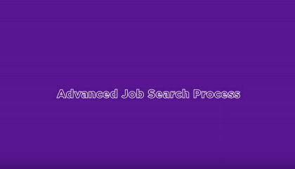 Advanced Job Search Process