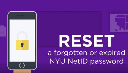Reset a Forgotten or Expired NYU NetID Password