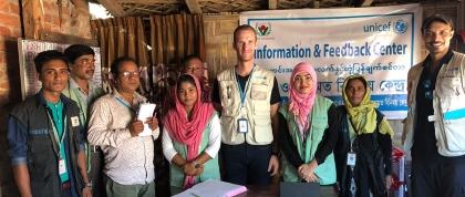 GPH student with Cox's Bazar Information & Feedback Centre Staff