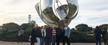 C-C MPH students at Floralis Genérica